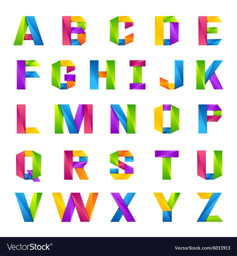 colorful letters alphabet one line colorful letters set