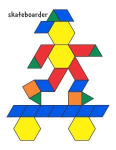 templates for pattern blocks kindergarten composing shapes in 1st grade pattern block pictures and