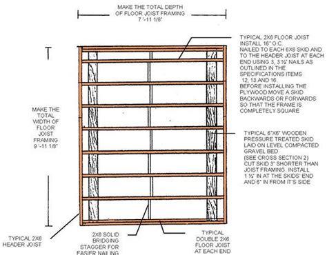 8×10 Shed Floor Plans
