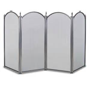 pewter 4 panel belvedere fireplace screen