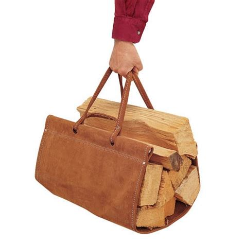pictured here is the brown suede wood carrier from