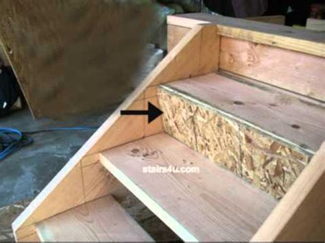 How To Make Deck Stairs by Closing Treads With O S B Stair Riser Staircase