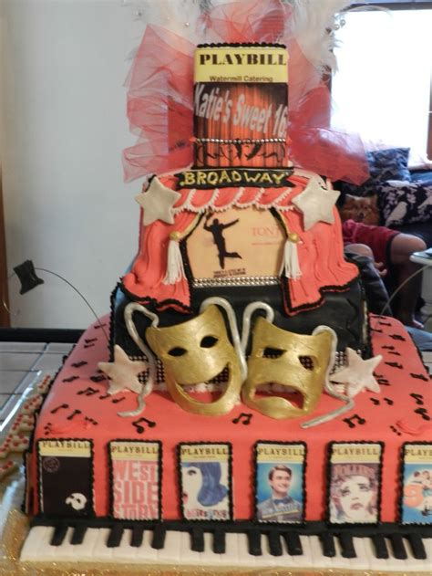 broadway themed decorations 33 best images about theatre show themed cakes on