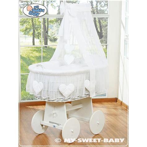 di vimini per neonati vimini neonato cuore bianco culle vimini