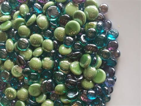 Purple Glass Marbles For Vases by Vase Filler Peacock Flat Back Glass Gem Mix Discounted