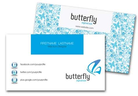 butterfly name card template business card template psd 22 free editable files
