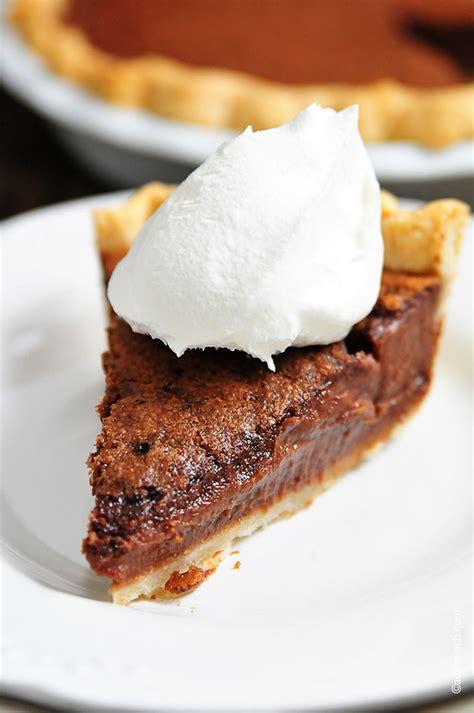 chocolate chess pie recipe add a pinch