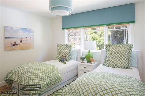 blue  green girls bedroom  blue cornice box cottage girls room
