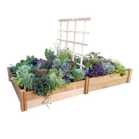 gronomics raised garden bed gronomics double raised bed with trellis williams sonoma