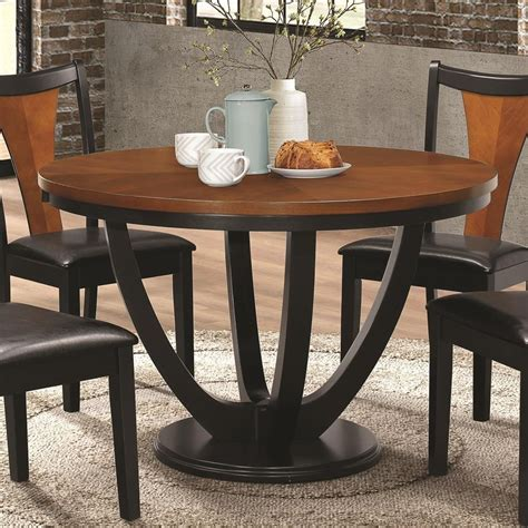 coaster boyer contemporary two tone round table value