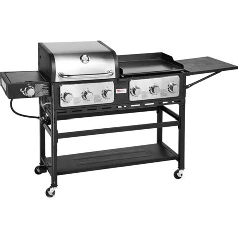 backyard griddle outdoor gourmet pro triton 7 burner propane grill and griddle combo academy