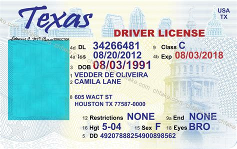 Texas Fake Ids Buy Fake Id Scannable Identification State Id Templates Free