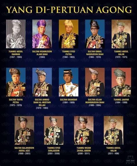 senarai   pertuan agong malaysia jiwarosakcom