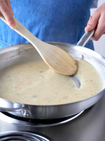 thickening with cornstarch or flour