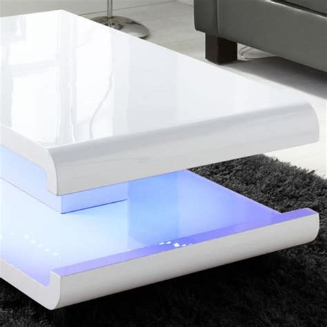 coffee tables with led lights grade a1 white high gloss coffee table with led