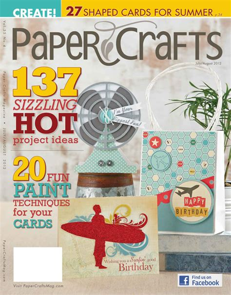 paper crafting magazine le magazine paper crafts