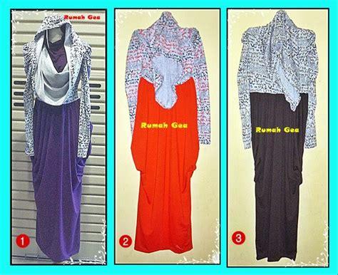 P N Fashion Gamis 0810 Ungu Tua butik rumah gea gamis hoodie syahrini huruf