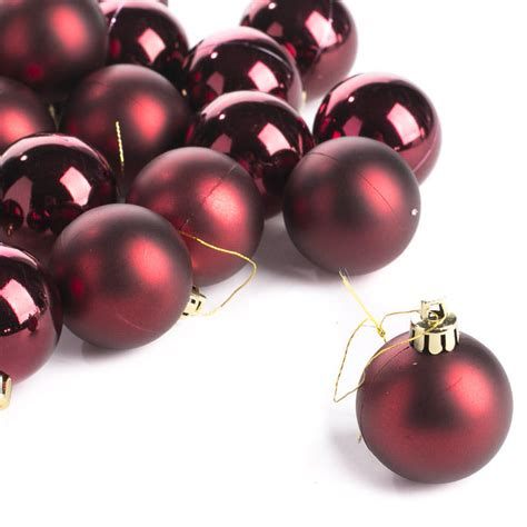 small burgundy christmas ball ornaments christmas