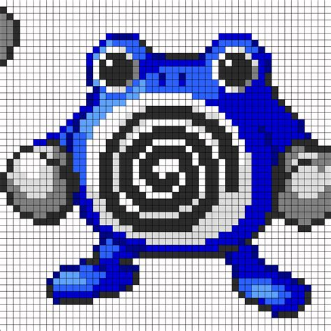 big perler bead patterns big poliwhirl perler bead pattern bead sprites
