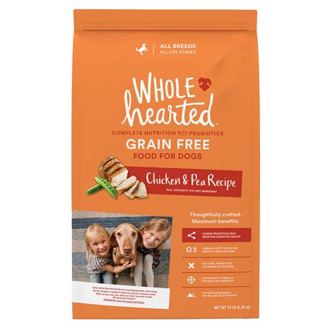 wholehearted food wholehearted all stages food grain free chicken pea petco store