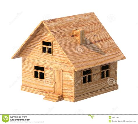 Toy House Made Of Plywood Isolated On White Stock Photos Image 24512543