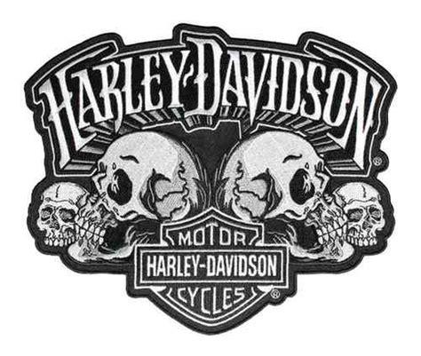 Harley Davidson Shield by Harley Davidson 174 Skull Text Bar Shield Embroider Emblem