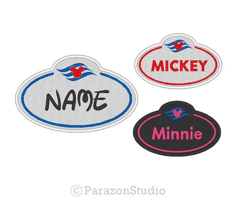 Custom Mickey Mouse 01 custom embroidered disney cruise line mickey mouse name