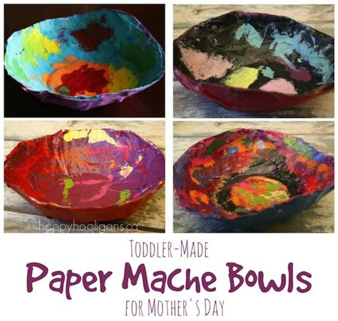 Easiest Way To Make Paper Mache - paper mache bowls a gift for to make and give