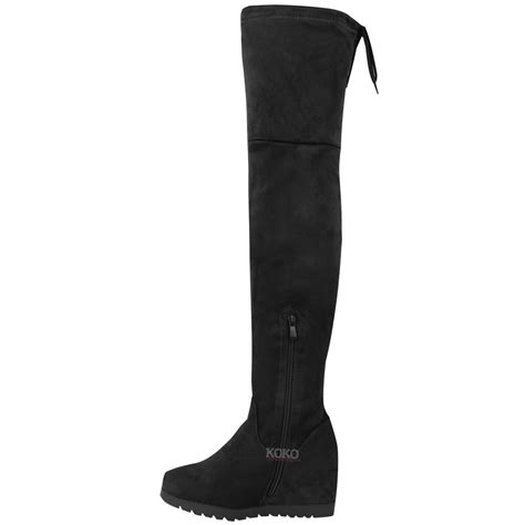 The Knee Wedge Boots thigh high wedge boots 28 images womens the knee wedge