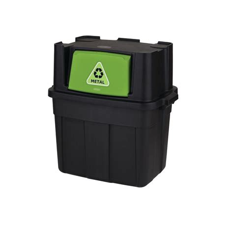 rubbermaid 24 5 gal stackable recycling bin 1803653 the
