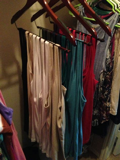 tank top  shirt organization  closet space saver