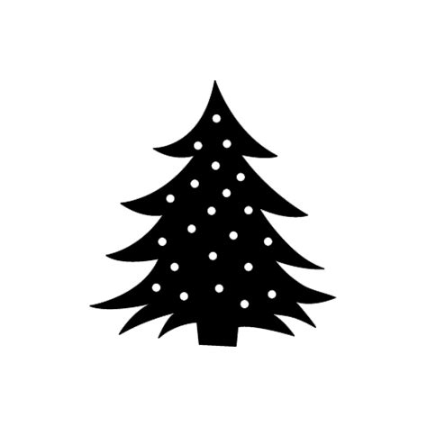 christmas tree die cut vinyl decal pv945