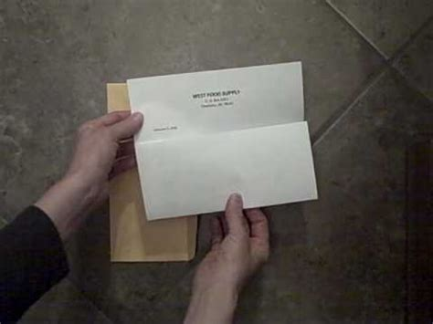 How To Fold Paper Into A Letter - folding a letter