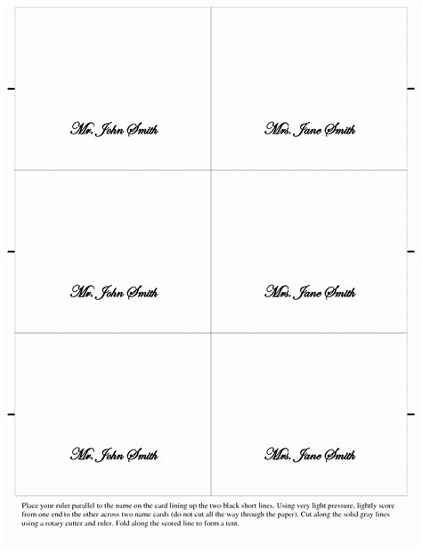 z card template free 10 wedding place card templates free ueewo