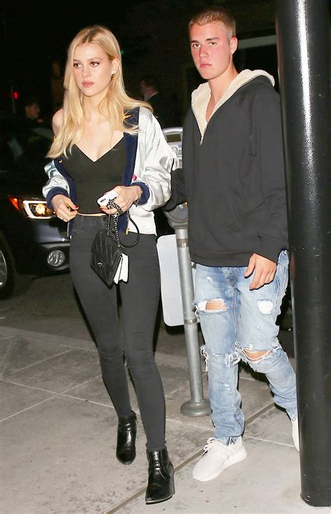 justin bieber spotted on dinner date with nicola peltz pics
