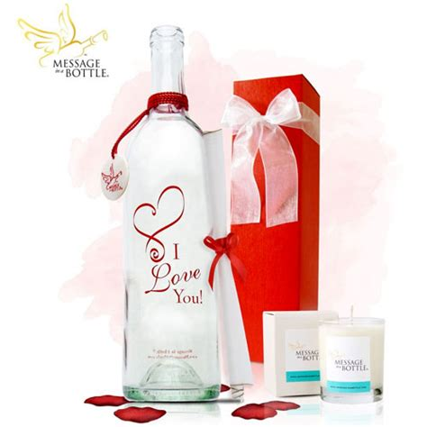 message in a bottle valentines gift s day gift ideas for him 2014 urbane