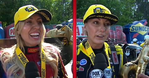 courtney force leah pritchett win nitro categories  atlanta  nhra drag racing fox sports