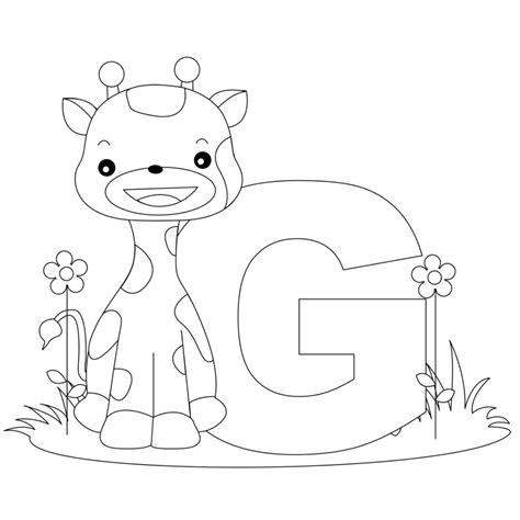coloring pages with child s name coloring pages animal alphabet letter g coloring child