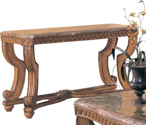 sofa table with marble top homelegance tarantula rectangular sofa table with marble