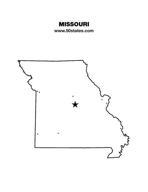 missouri map outline missouri map