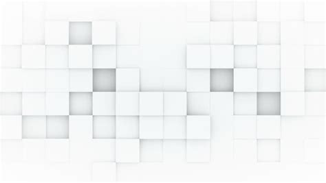 kaos 3d square white cubes animation stock footage