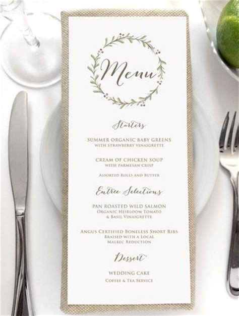25  best ideas about Wedding menu on Pinterest   Wedding