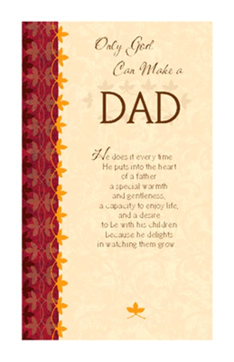 Printable Christmas Cards For Dad | only god can make a dad greeting card father s day