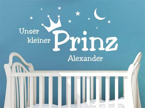 Wandtattoo Kinderzimmer Kleiner Prinz by Wandtattoo Kleiner Prinz Mit Name Wandtattoo De