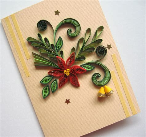 images christmas quilling christmas card quilled christmas flower poinsettia
