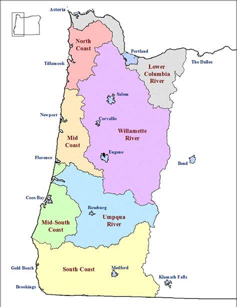 map of western oregon western oregon map my