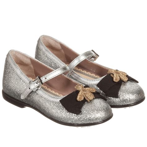 Shoes Pantofel Gucci Bee Sz 26 30 gucci silver glitter gold bee shoes childrensalon