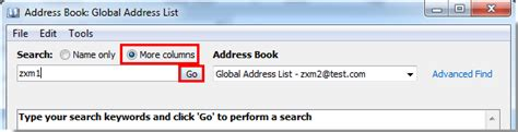 International Address Finder How To Search Outlook Global Address List With Advanced Find