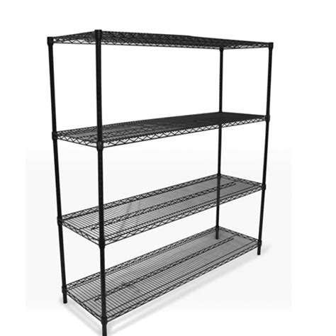black wire shelving 48 quot x74 quot x18 quot discount shelving