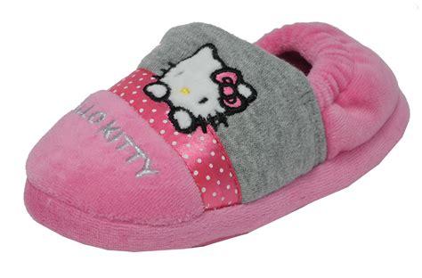 hello slippers uk pink hello elasticated